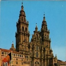 Postales: GALICIA - Nº 3210 SANTIAGO DE COMPOSTELA - CATEDRAL FACHADA DEL OBRADOIRO SIGLO XVIII - SIN CIRCULAR. Lote 182992865