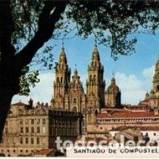 Postales: GALICIA - Nº 3209 SANTIAGO DE COMPOSTELA - LA CATEDRAL DESDE EL PASEO DE LA HERRADURA - SIN CIRCULAR. Lote 182993110