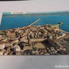 Postales: CORUÑA - POSTAL LA CORUÑA - VISTA PARCIAL AÉREA. Lote 183010400