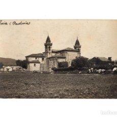 Postales: PADRÓN.(LA CORUÑA).- IGLESIA PARROQUIAL. POSTAL FOTOGRÁFICA.. Lote 183497435