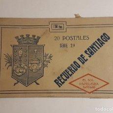 Postales: SANTIAGO DE COMPOSTELA CORUÑA CUADERNILLO DE 20 POSTALES . Lote 183600013