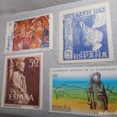Postales: LOTE POSTALES CORREOS ESPAÑA Y AÑO SANTO COMPOSTELA XACOBEO 2004. Lote 183685046