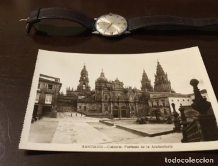 ANTIGUA POSTAL FOTOGRÁFICA SANTIAGO CATEDRAL FACHADA DE LA AZABACHERÍA (Postales - España - Galicia Moderna (desde 1940))
