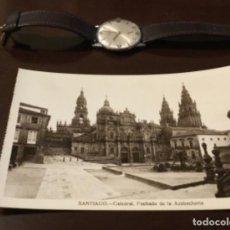 Postales: ANTIGUA POSTAL FOTOGRÁFICA SANTIAGO CATEDRAL FACHADA DE LA AZABACHERÍA. Lote 183758230