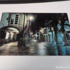 Postales: CORUÑA - POSTAL SANTIAGO DE COMPOSTELA - RUA DEL VILLAR - NOCTURNA. Lote 184372691