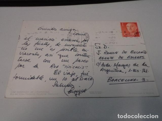 Postales: CORUÑA - POSTAL SANTIAGO DE COMPOSTELA - RUA DEL VILLAR - NOCTURNA - Foto 2 - 184372691