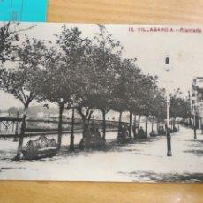 Postales: POSTAL DE VILLAGARCÍA/VILAGARCÍA (AROSA/AROUSA) (ALAMEDA). N 15 CIRCULADA.. Lote 184713052