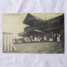 Postales: TARJETA POSTAL LA CORUÑA CHALET DE RIAZOR. Lote 185989422
