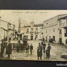 Cartoline: VIANA DEL BOLLO-PLAZA MAYOR-EJG-GALICIA-POSTAL ANTIGUA-(65.786). Lote 189895145