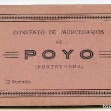 Postales: POYO, PONTEVEDRA. CONVENTO DE MERCEDARIOS, CARNET DE 12 POSTALES, HELIOTIPIA DE KALLMEYER Y GAUTIER. Lote 190071920