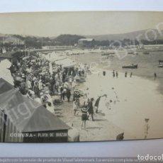 Postales: POSTAL ANTIGUA. PLAYA DE RIAZOR. CORUÑA. FOTO FERRER. Lote 190864865