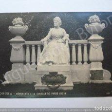 Postales: POSTAL ANTIGUA. MONUMENTO A LA CONDESA DE PARDO BAZÁN. CORUÑA. FOTO FERRER. Lote 190865926