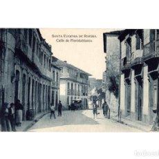 Postales: SANTA EUGENIA DE RIBEIRA.(CORUÑA).- CALLE FLORIDABLANCA.. Lote 190871968
