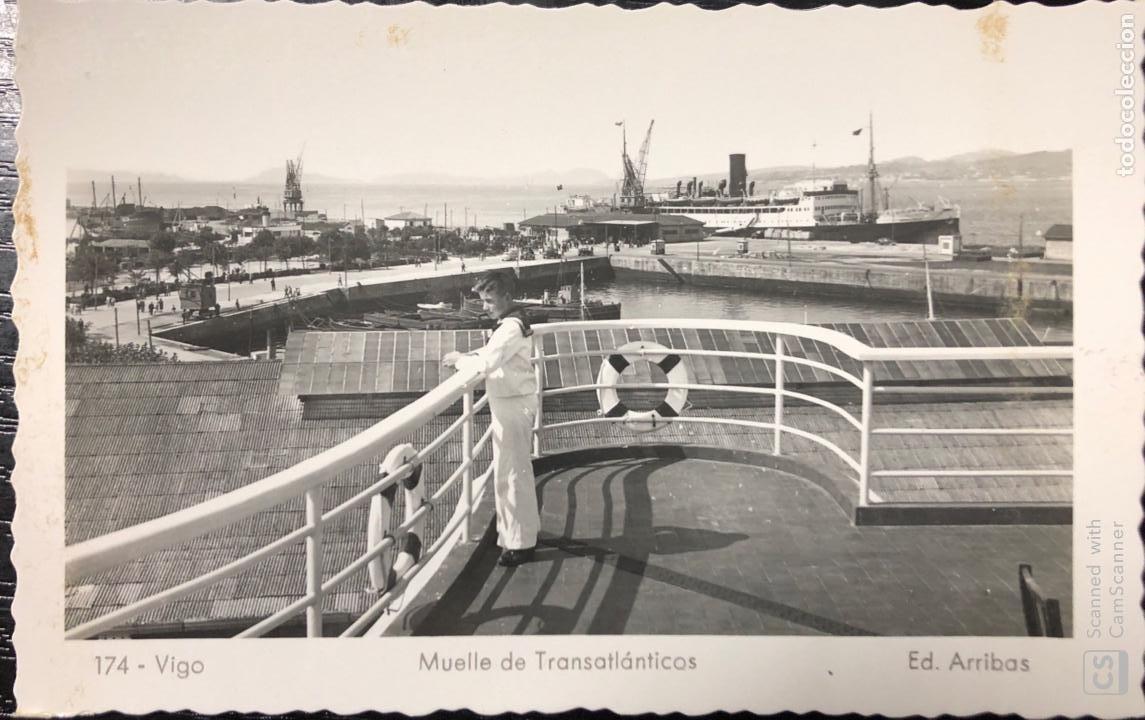 TARJETA POSTAL VIGO. MUELLE DE TRANSANLANTICO. (Postales - España - Galicia Antigua (hasta 1939))
