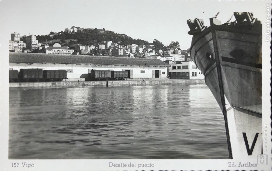 TARJETA POSTAL VIGO. DETALLE DEL PUERTO (Postales - España - Galicia Antigua (hasta 1939))