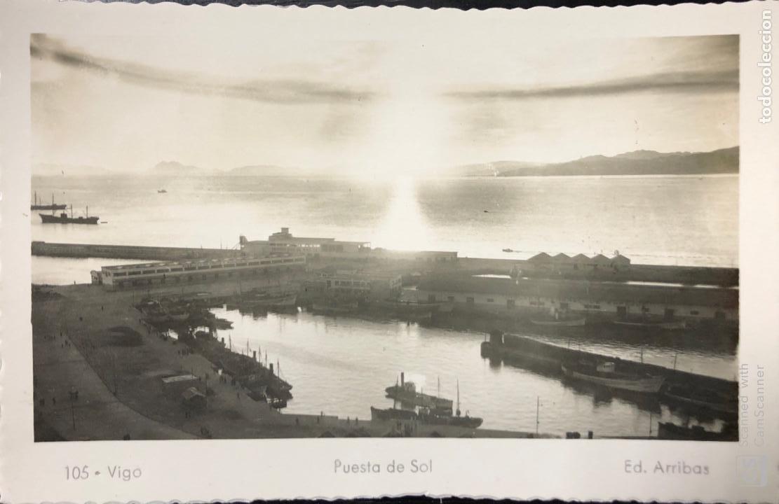 TARJETA POSTAL VIGO. PUESTA DE SOL. (Postales - España - Galicia Antigua (hasta 1939))