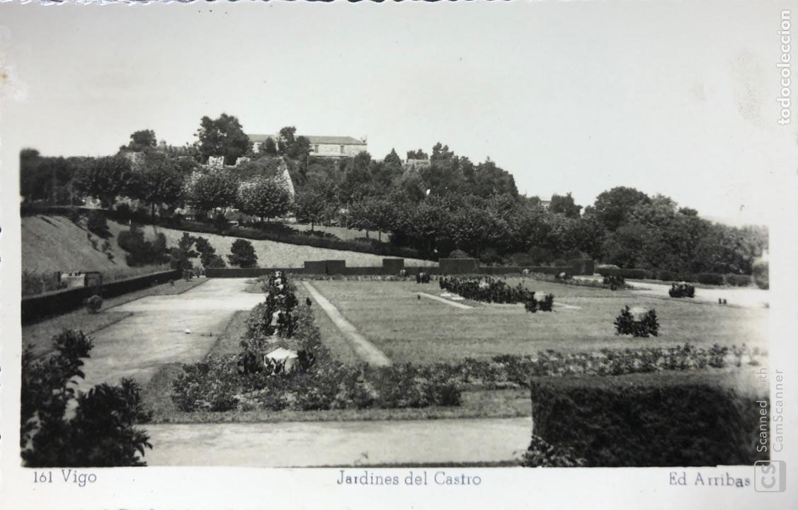 TARJETA POSTAL VIGO. JARDINES DEL CASTRO. (Postales - España - Galicia Antigua (hasta 1939))