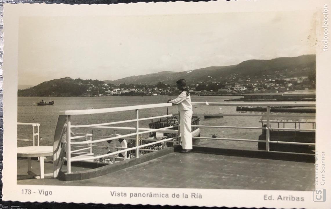 TARJETA POSTAL VIGO. VISTA PANORAMICA DE LA RIA. (Postales - España - Galicia Antigua (hasta 1939))