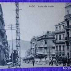 Postales: VIGO - CALLE DE COLON. Lote 191160060