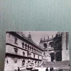 Postales: POSTAL SANTIAGO DE COMPOSTELA - FUENTE Y FACHADA DE PLATERIAS. Lote 191348000