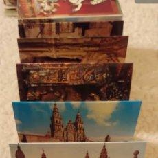 Postales: ANTIGUO DESPLEGABLE SANTIAGO DE COMPOSTELA. Lote 191467523