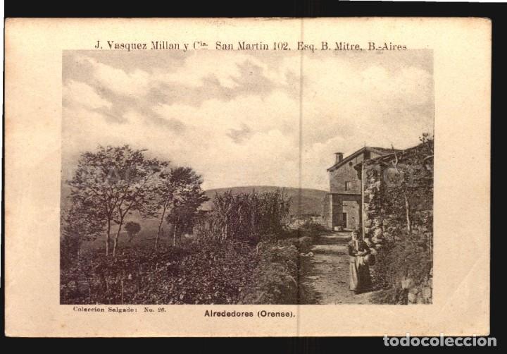 ALREDEDORES DE ORENSE SALGADO N°26 TARJETA POSTAL GALICIA CA.1900 EDICION ARGENTINA (Postales - España - Galicia Antigua (hasta 1939))