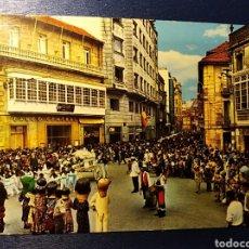 Postales: PONTEVEDRA, GALICIA FIESTAS DE LA PEREGRINA, CABEZUDOS. Lote 191987972