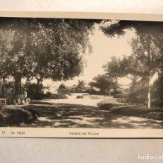 Postais: LA TOJA (PONTEVEDRA) POSTAL NO.17, DETALLE DEL PARQUE. SIN IDENTIFICAR EDITOR (A.1956) S/C.. Lote 192014677
