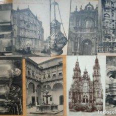 Postales: LOTE 9 POSTALES SANTIAGO DE COMPOSTELA.. Lote 192079086