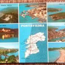 Postales: PLANO - MAPA PONTEVEDRA. Lote 192132760