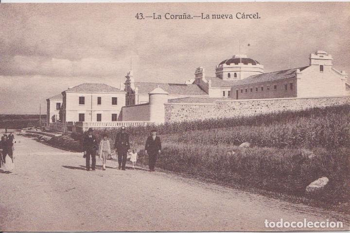 LA CORUÑA - LA NUEVA CARCEL - HELIOTIPIA DE KALLMEYER Y GAUTIER - MADRID (Postales - España - Galicia Antigua (hasta 1939))