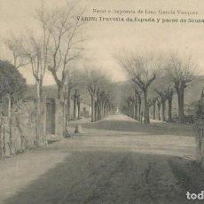 Postales: POSTAL AÑOS 20 VERIN ORENSE OURENSE GALICIA TRAVESIA DE ESPADA Y PASEO DE SOUSAS. Lote 192956220