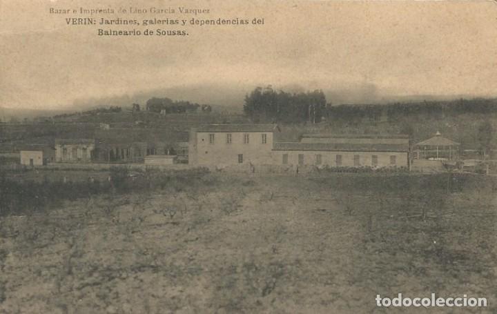POSTAL AÑOS 20 VERIN ORENSE OURENSE GALICIA BALNEARIO DE SOUSAS (Postales - España - Galicia Antigua (hasta 1939))