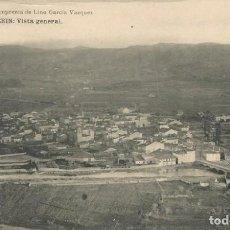 Postales: POSTAL AÑOS 20 VERIN VISTA GENERAL ORENSE OURENSE GALICIA LINO GARCIA VAZQUEZ. Lote 192957325
