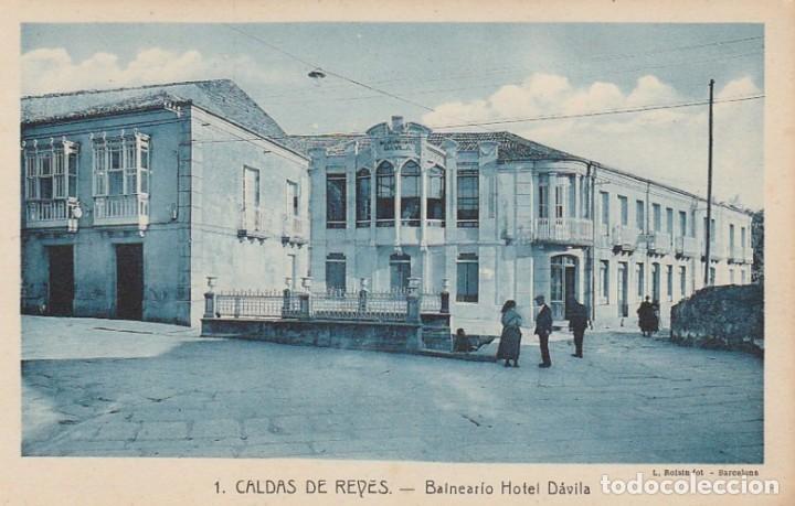 1921 POSTAL 1 BALNEARIO HOTEL DAVILA CALDAS DE REYES REIS PONTEVEDRA GALICIA - ROISIN (Postales - España - Galicia Antigua (hasta 1939))