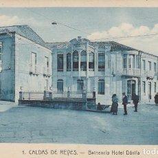 Postales: 1921 POSTAL 1 BALNEARIO HOTEL DAVILA CALDAS DE REYES REIS PONTEVEDRA GALICIA - ROISIN. Lote 192958330