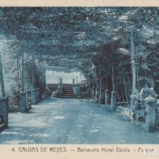 Postales: 1921 POSTAL 4 BALNEARIO HOTEL DAVILA - PARQUE - CALDAS DE REYES REIS PONTEVEDRA GALICIA - ROISIN. Lote 192959693