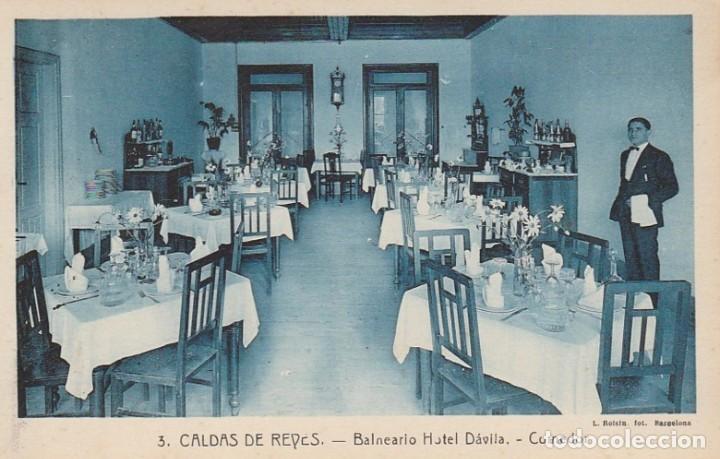 1921 LOTE 5 POSTALES HOTEL DAVILA CALDAS DE REYES REIS PONTEVEDRA GALICIA ROISIN (Postales - España - Galicia Antigua (hasta 1939))