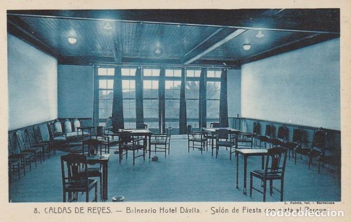 Postales: 1921 LOTE 5 POSTALES HOTEL DAVILA CALDAS DE REYES REIS PONTEVEDRA GALICIA ROISIN - Foto 4 - 192960336