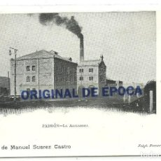 Postales: (PS-62891)POSTAL DE PADRON-LA AZUCARERA.COMERCIO MANUEL SUAREZ CASTRO. Lote 193111003