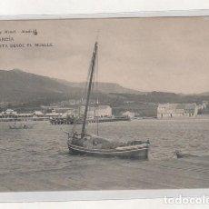 Postales: VILLAGARCIA VISTA DESDE EL MUELLE. 1598 HUASER Y MENET. REVERSO DIVIDIDO. SIN CIRCULAR. . Lote 194007335
