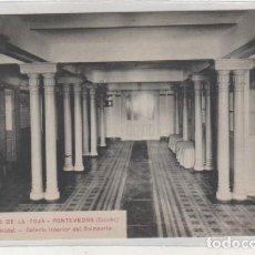 Postales: BALNEARIO DE LA TOJA. PONTEVEDRA. 12 GRAN HOTEL GALERÍA INTERIOR DEL BALNEARIO. SIN CIRCULAR. . Lote 194009917