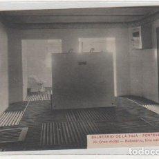 Postales: BALNEARIO DE LA TOJA. PONTEVEDRA. 15 GRAN HOTEL BALNEARIO, UNA SALA DE DUCHAS. SIN CIRCULAR. . Lote 194009991
