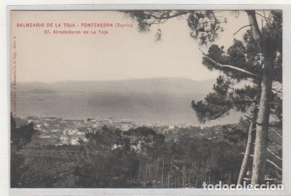 BALNEARIO DE LA TOJA. PONTEVEDRA. 21 ALREDEDORES DE LA TOJA. SERIE A. SIN CIRCULAR. (Postales - España - Galicia Antigua (hasta 1939))