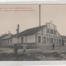 Postales: BALNEARIO DE LA TOJA. PONTEVEDRA. 6 GRAN HOTEL. EXTERIOR DE LA FÁBRICA DE SALES Y JABONES SERIE A. . Lote 194010076