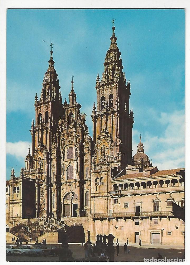 2074 - SANTIAGO DE COMPOSTELA.- CATEDRAL. FACHADA DEL OBRADOIRO. (Postales - España - Galicia Moderna (desde 1940))