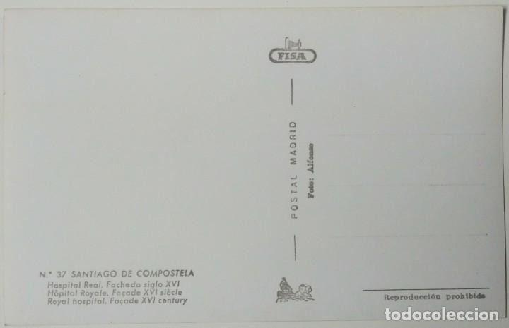 Postales: SANTIAGO DE COMPOSTELA -HOSPITAL REAL FACHADA SIGLO XVI - Foto 2 - 194106372