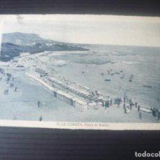 Postales: LA CORUÑA-PLAYA DE RIAZOR. Lote 194180642
