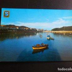 Postales: BAYONA PONTEVEDRA VISTA PARCIAL DEL PUERTO Y MONTE REAL. Lote 194227803