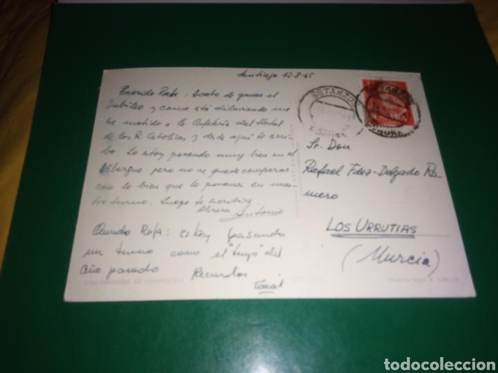 Postales: Antigua postal de Santiago de Compostela. Años 60 - Foto 2 - 194237157